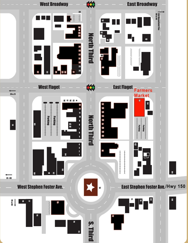 Map of Downtown Bardstown